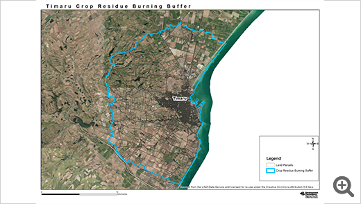 Timaru crop residue buffer zone