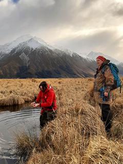 Jason Butt and Jenna Hughes-Games survey the health of wetlands
