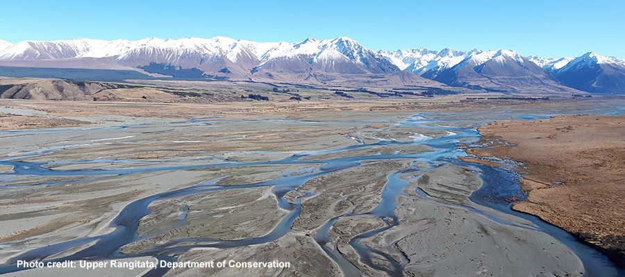 Ecan News story Rangitata from Forest Ck Bluffs 900x400 w credit