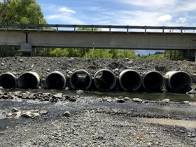 Temporary culverts allow for fish passage