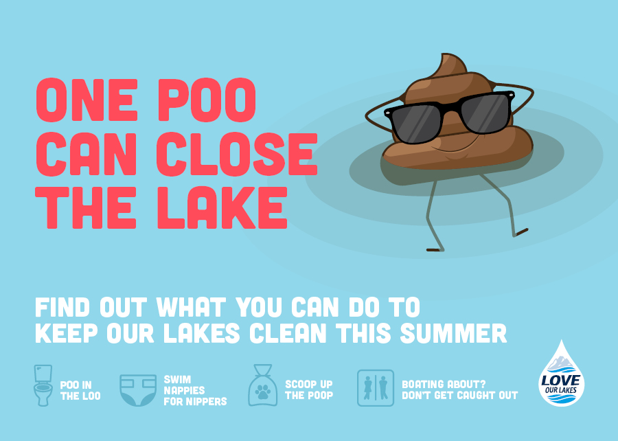 Love Our Lakes: One Poo Can Close the Lake!