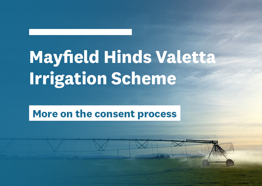 Mayfield Hinds Valetta Irrigation Scheme's application for consent renewal