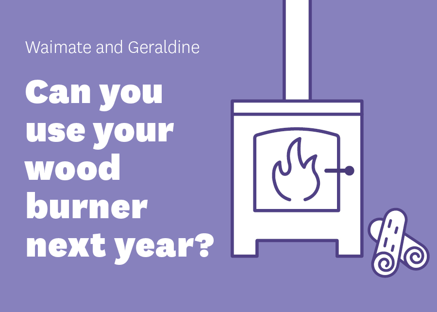 Drop-in sessions for Waimate and Geraldine wood burner deadline